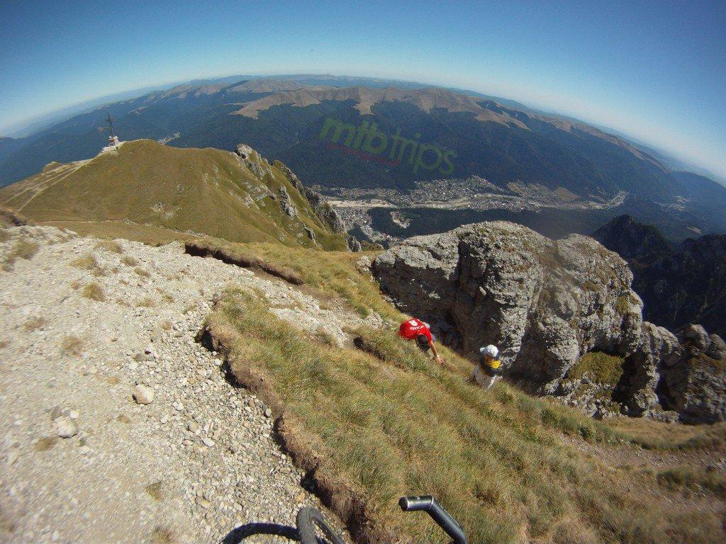 Busteni seen from Caraiman Peak (2384m/7821ft), mtb trips